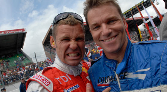 Tom Kristensen and Stefan Johansson