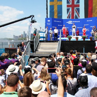Felix Rosenqvist powers to New York City ePrix podium