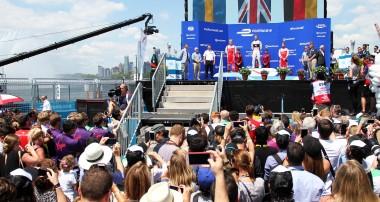 Felix Rosenqvist powers to New York City ePrix podium