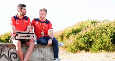 Felix Rosenqvist laddar för historiskt race i den eviga staden
