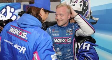 Felix Rosenqvist tiondelar från pallen i lovande Super GT-debut