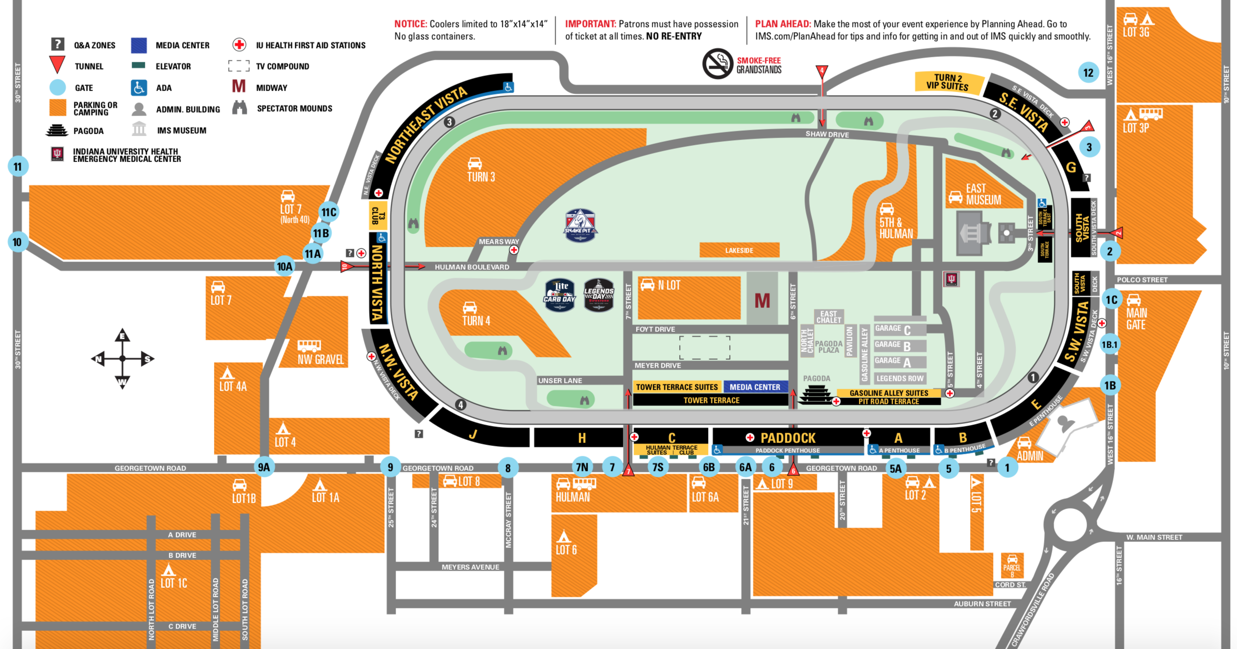 Indy 500 map